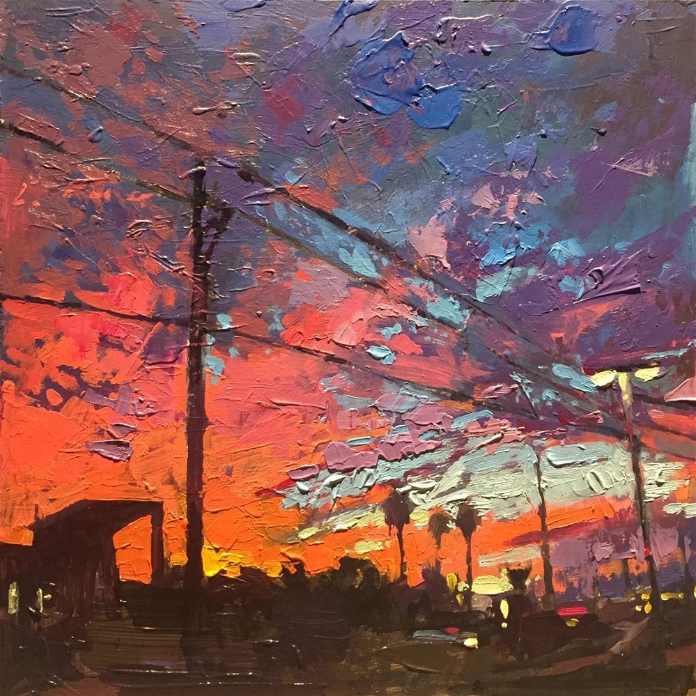 """Pre-Dawn, Lake Havasu City"" original fine art by Christopher Long"