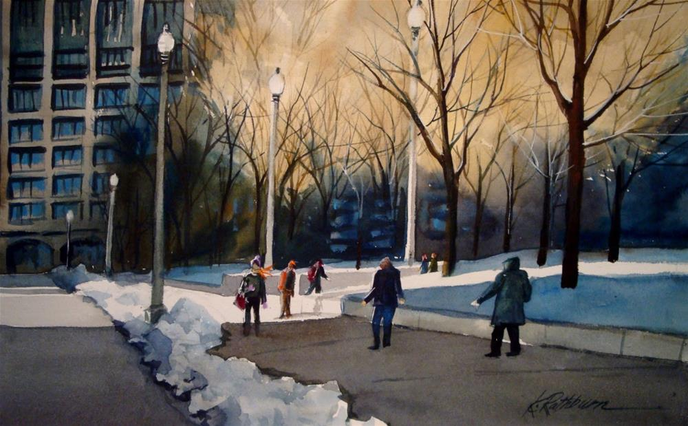 """Just Another Day in the City-Chicago"" original fine art by Kathy Los-Rathburn"