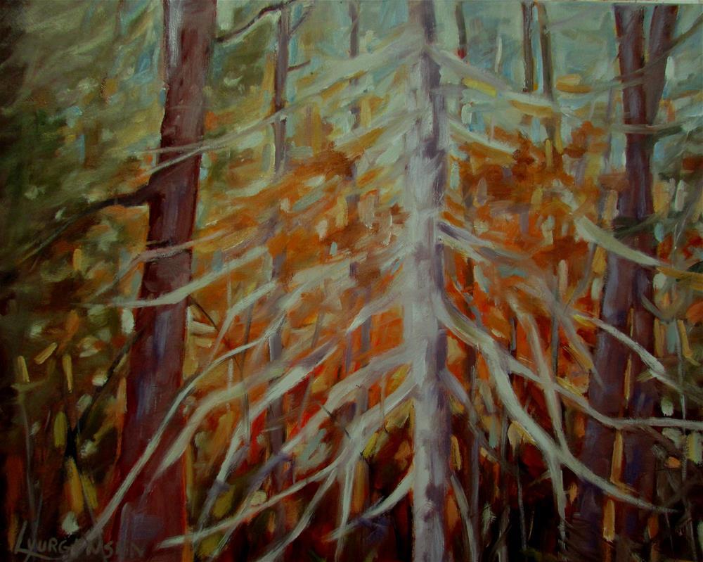 """16 x 20 inch oil A Whisper at Dawn"" original fine art by Linda Yurgensen"