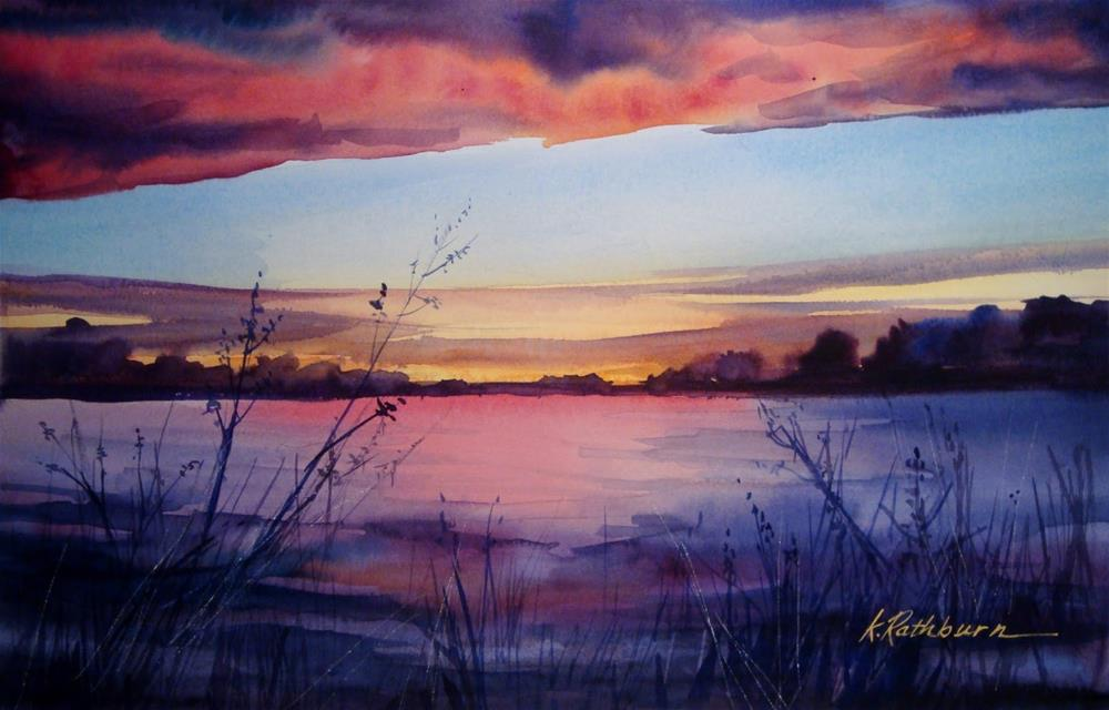 """""""Today's Sunset, In Case You Missed tt"""" original fine art by Kathy Los-Rathburn"""