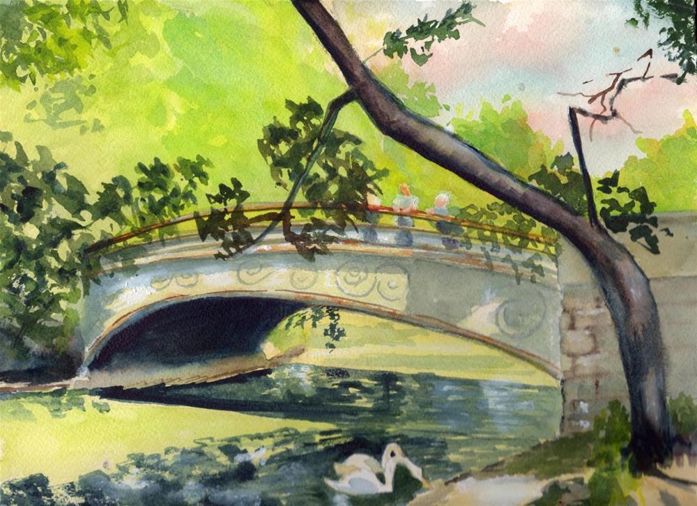 """Bridge Landscape"" original fine art by Bunny Griffeth"