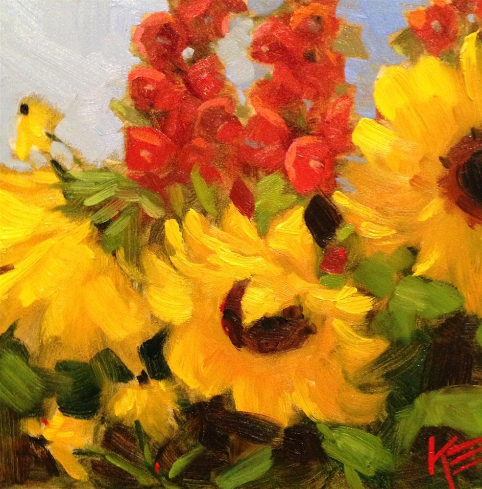 """Summer garden"" original fine art by Krista Eaton"