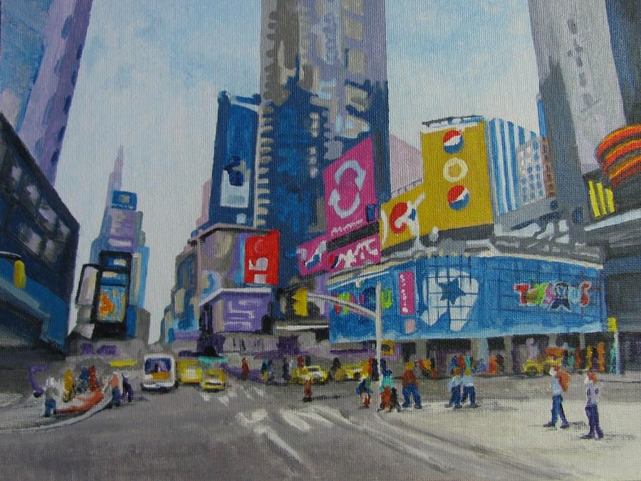 """""""Times Square"""" original fine art by Nan Johnson"""