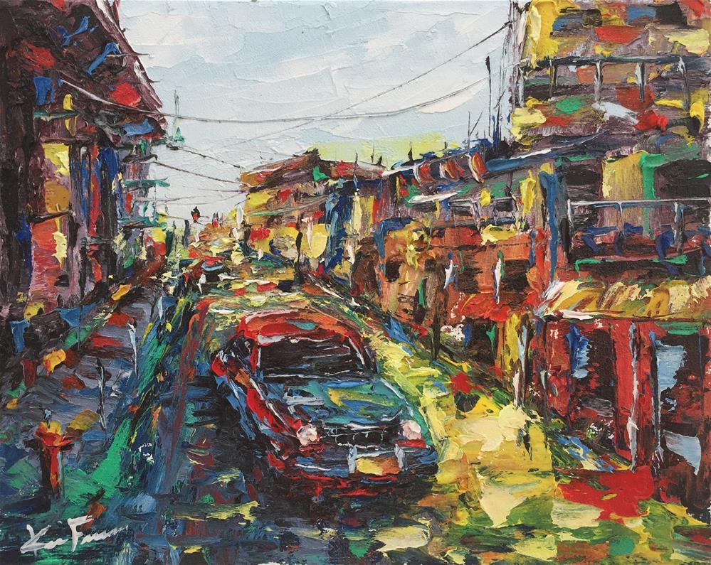 """Streets of Cuba"" original fine art by Ken Fraser"
