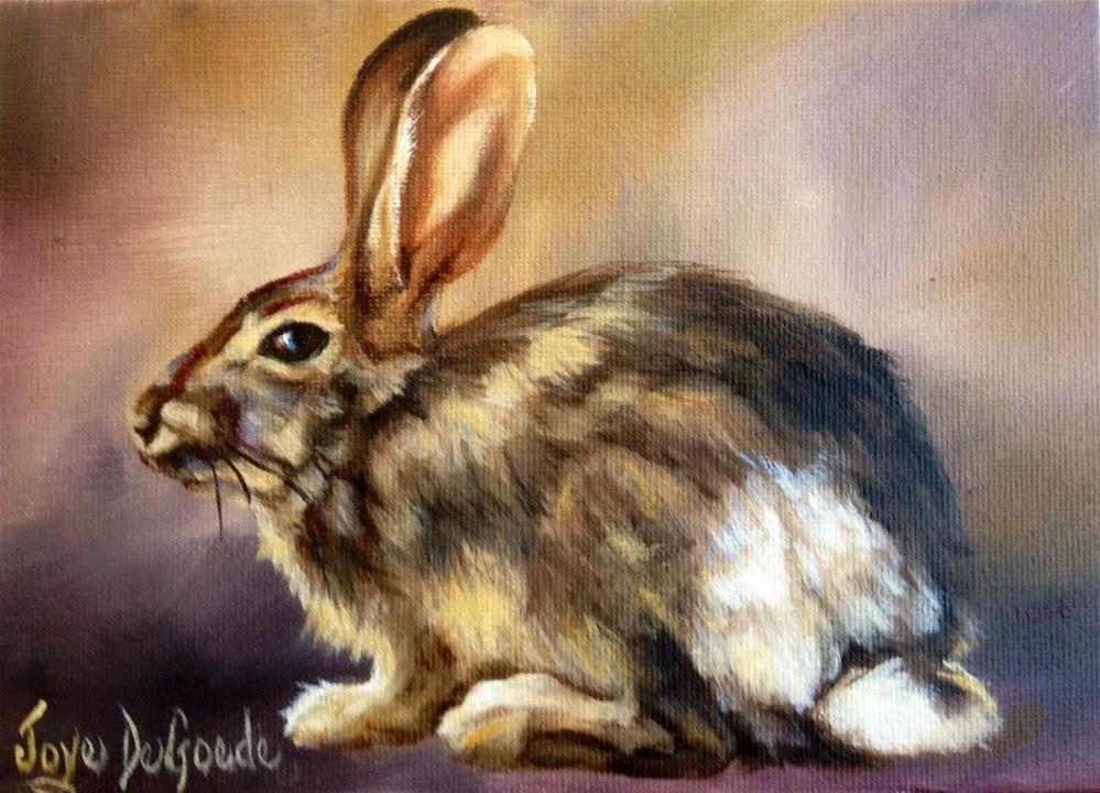 """Silly Ol' Rabbit"" original fine art by Joye DeGoede"