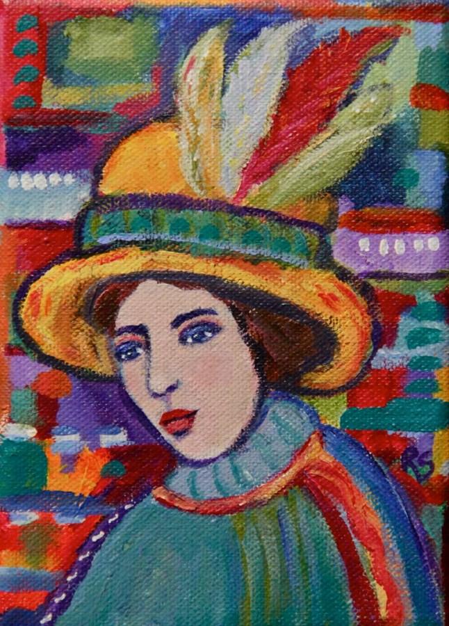 """""""Maxine"""" original fine art by Roberta Schmidt ArtcyLucy"""