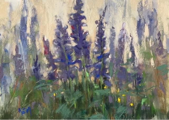 """A Little Rain and A Lot of Painting"" original fine art by Karen Margulis"