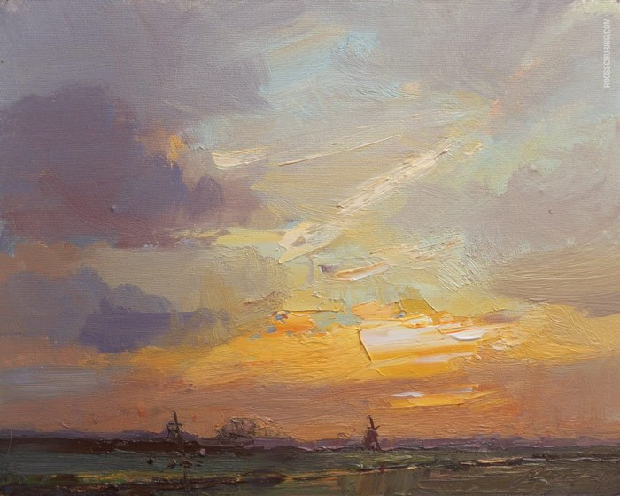 """Yellow Sunrise"" original fine art by Roos Schuring"