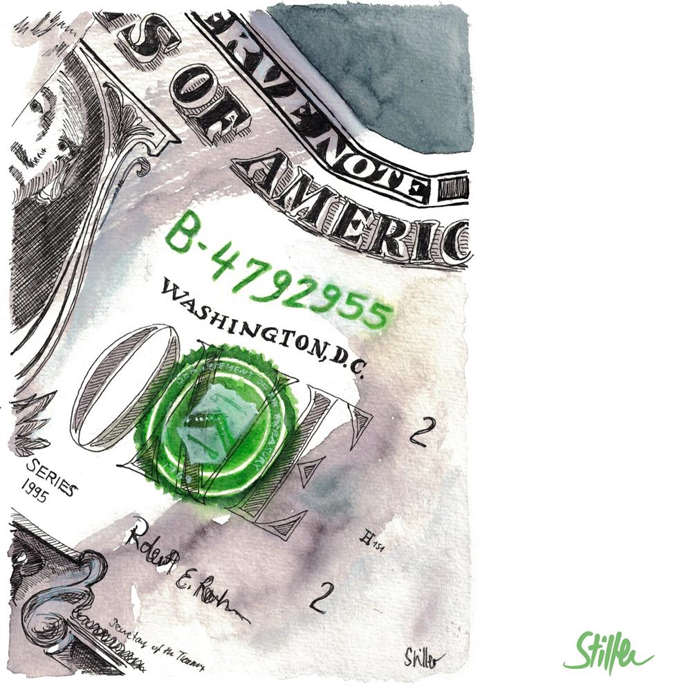 """3558 Money"" original fine art by Dietmar Stiller"