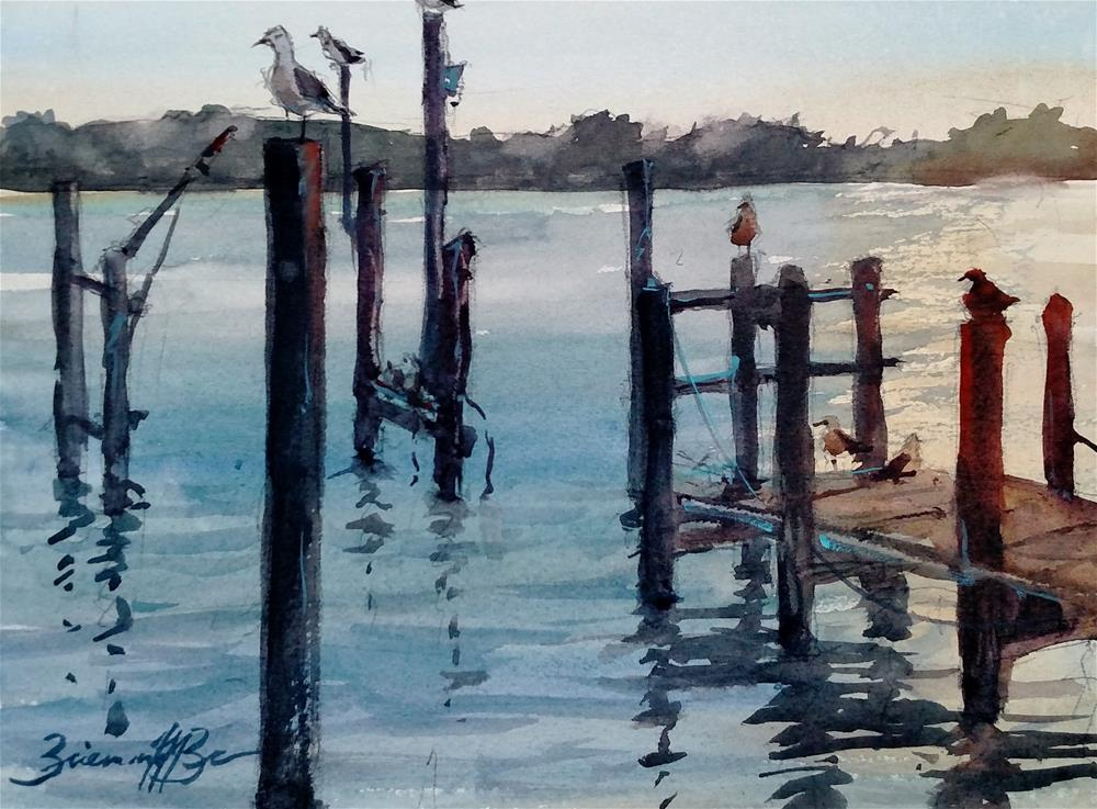"""Evening Spot"" original fine art by Brienne M Brown"