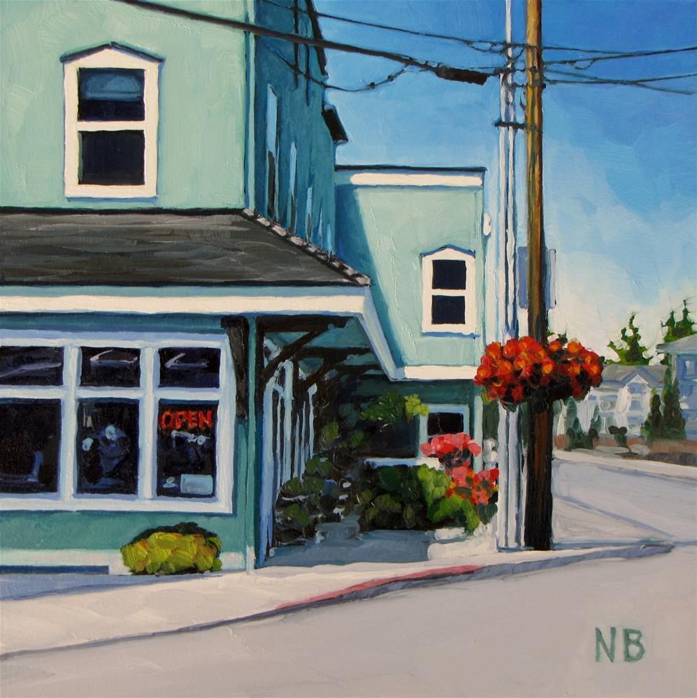 """Corner Store"" original fine art by Nora Bergman"