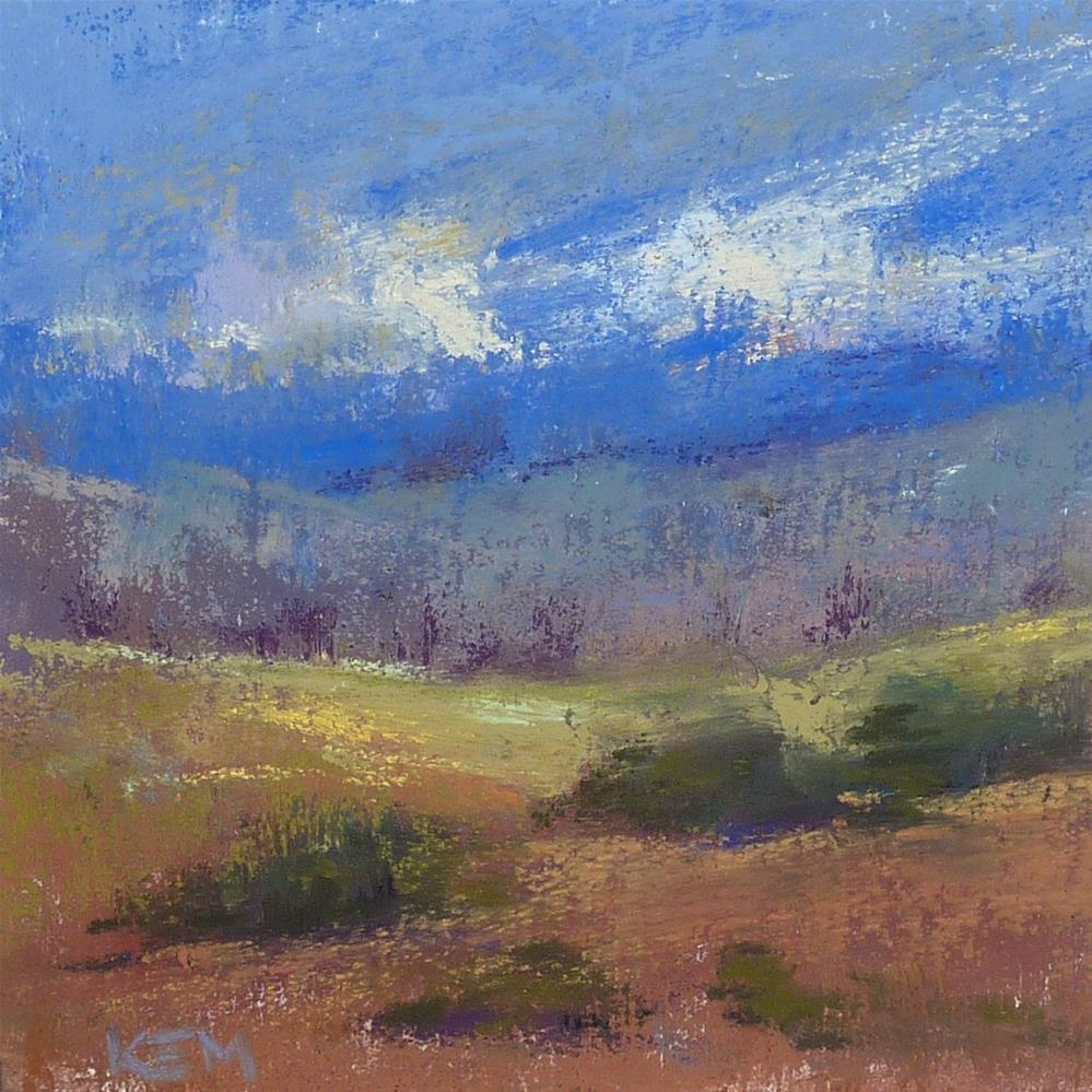 """Cheap and Easy Way to Make a Sanded Pastel Surface"" original fine art by Karen Margulis"