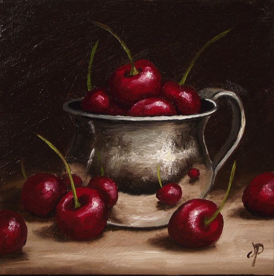 """More Cherries"" original fine art by Jane Palmer"