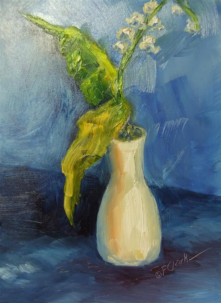 """""""Lily of the Valley"""" original fine art by Donna Pierce-Clark"""