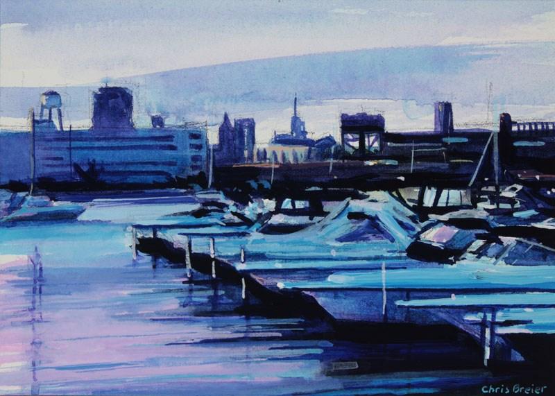 """""""NFTA Boat Harbor"""" original fine art by Chris Breier"""