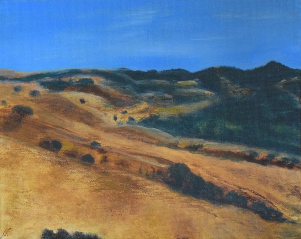"""Crockett Hills, Hills & Valleys Study"" original fine art by Tisha Mark"