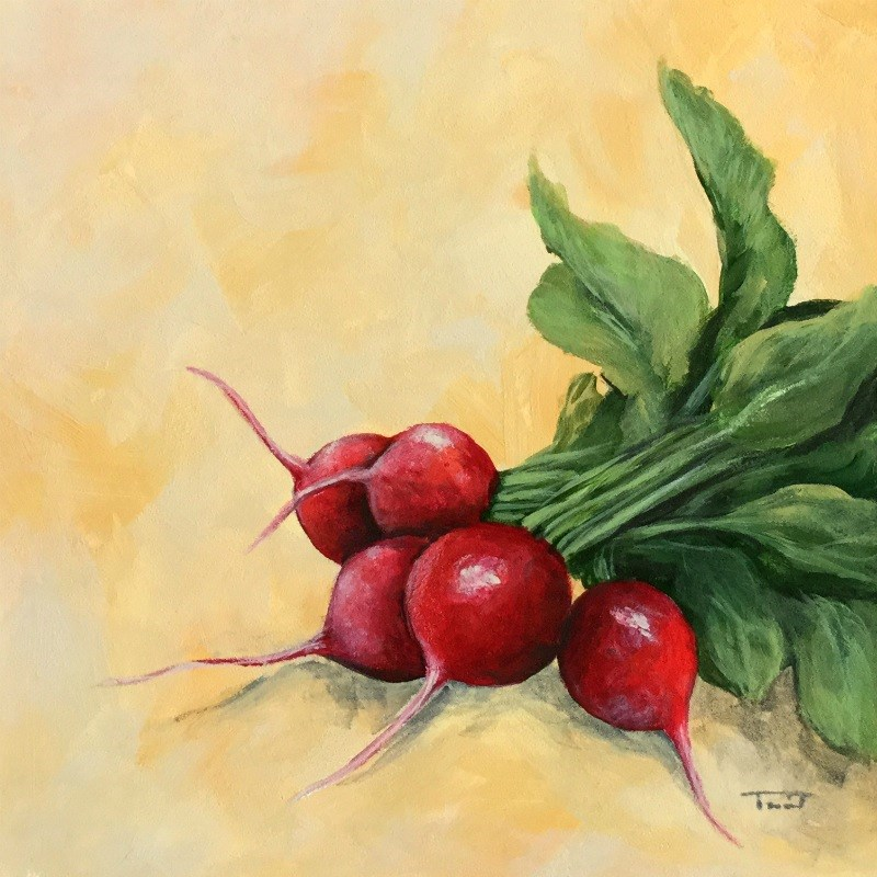 """Radishes II"" original fine art by Torrie Smiley"