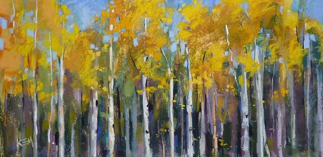 """Aspen Series part 2...Thinking Outside of the Box"" original fine art by Karen Margulis"