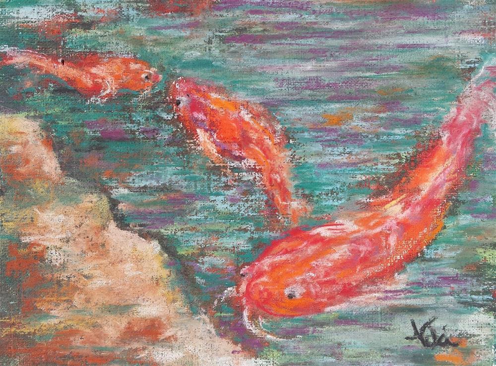 """""""Koi"""" original fine art by Niki Hilsabeck"""