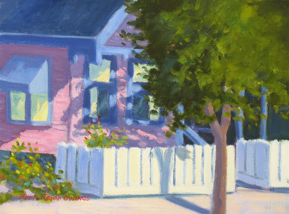"""Pink House in Jamestown"" original fine art by Rhett Regina Owings"