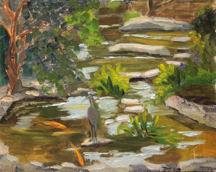 """Koi Pond"" original fine art by Jane Frederick"