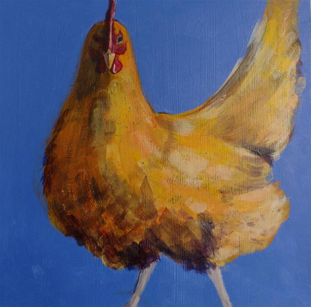 """FLUFFY BUFF"" original fine art by Mary Davies Kerns"