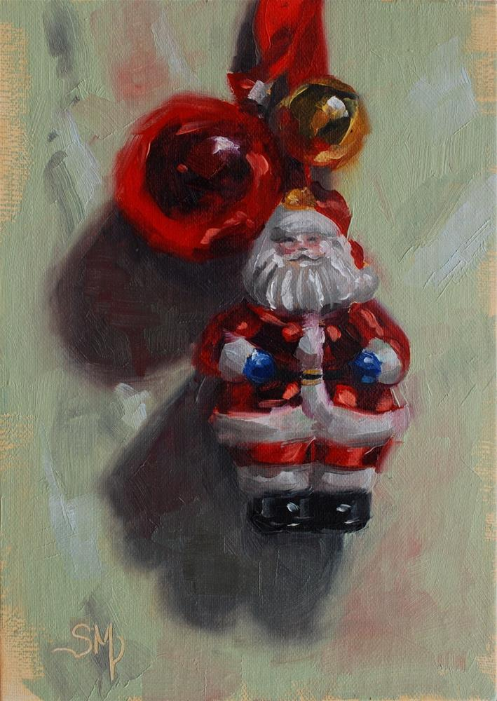"""No. 535 Christmas Ornaments #2"" original fine art by Susan McManamen"