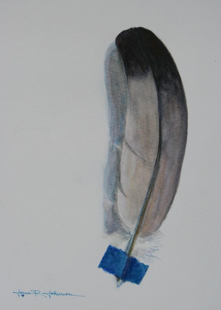 """Feather 5"" original fine art by Jana Johnson"