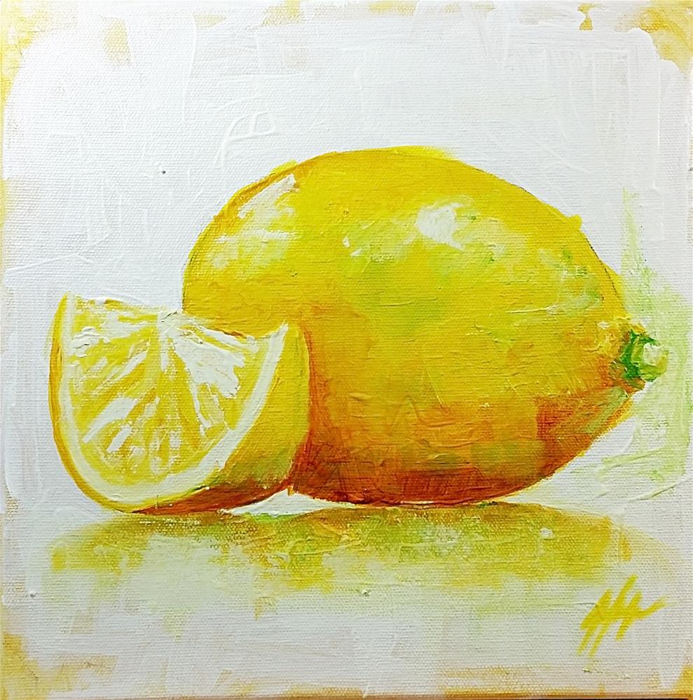 """Lemons No. 3"" original fine art by Jeff Hamachek"