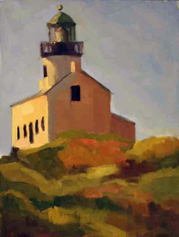 """Point Loma Lighthouse"" original fine art by Katharine Engh"
