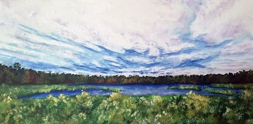 """Southwest Harbor"" original fine art by Nan Johnson"