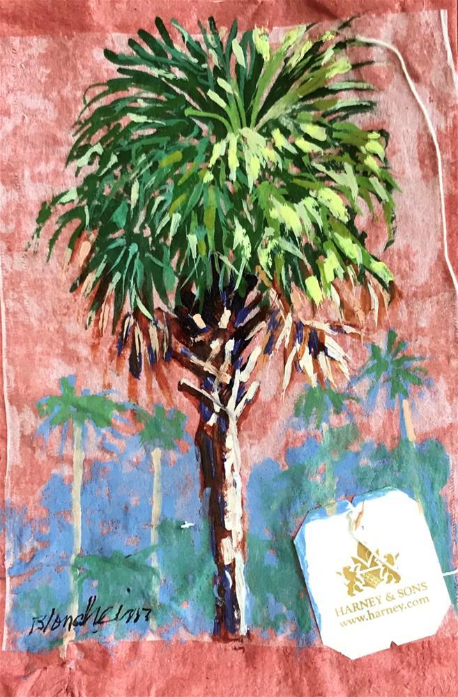 """""""Cabbage Palms"""" original fine art by Linda Blondheim"""