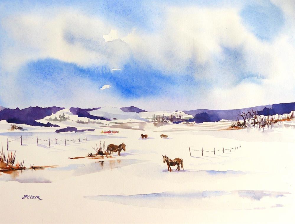 """January I"" original fine art by Judith Freeman Clark"