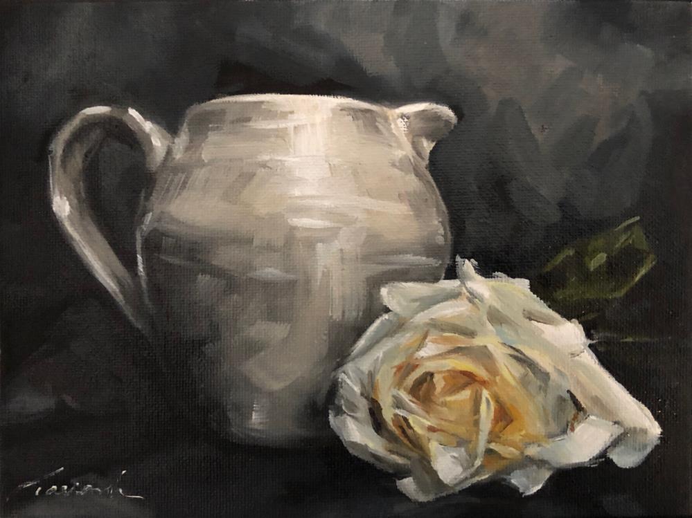 """Pale Rose #181"" original fine art by Tamanda Elia"