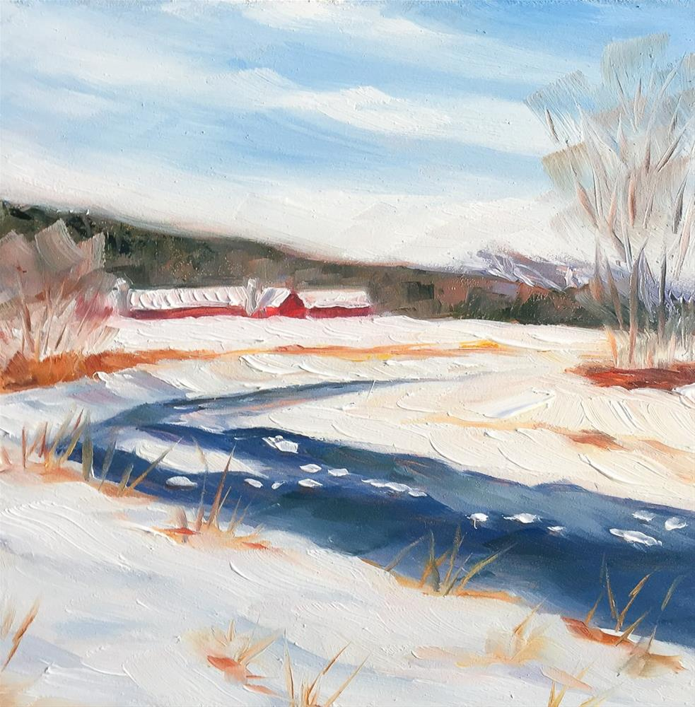 """#56 - After the Snow - Percy Farm - Stowe, VT"" original fine art by Sara Gray"