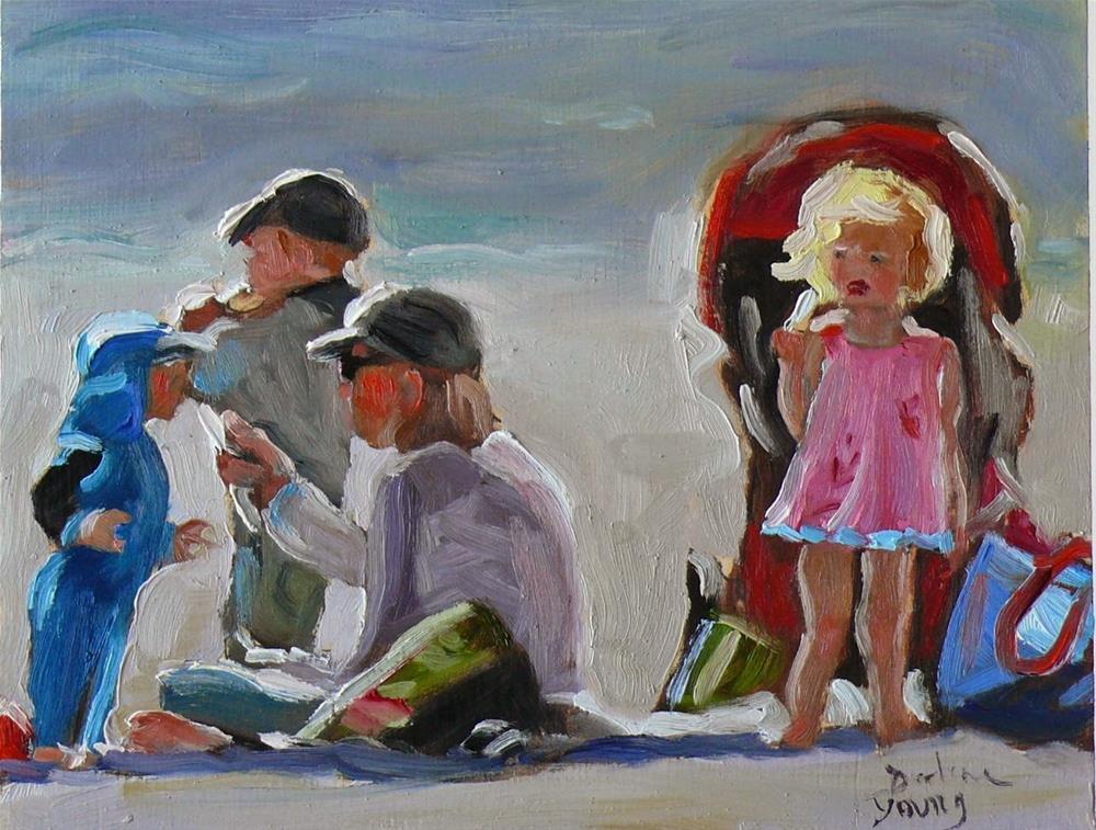 """""""753 Popsicle Break"""" original fine art by Darlene Young"""