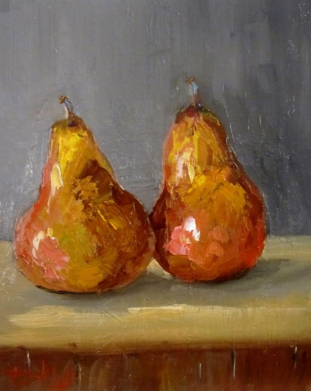 """""""Pears"""" original fine art by Delilah Smith"""
