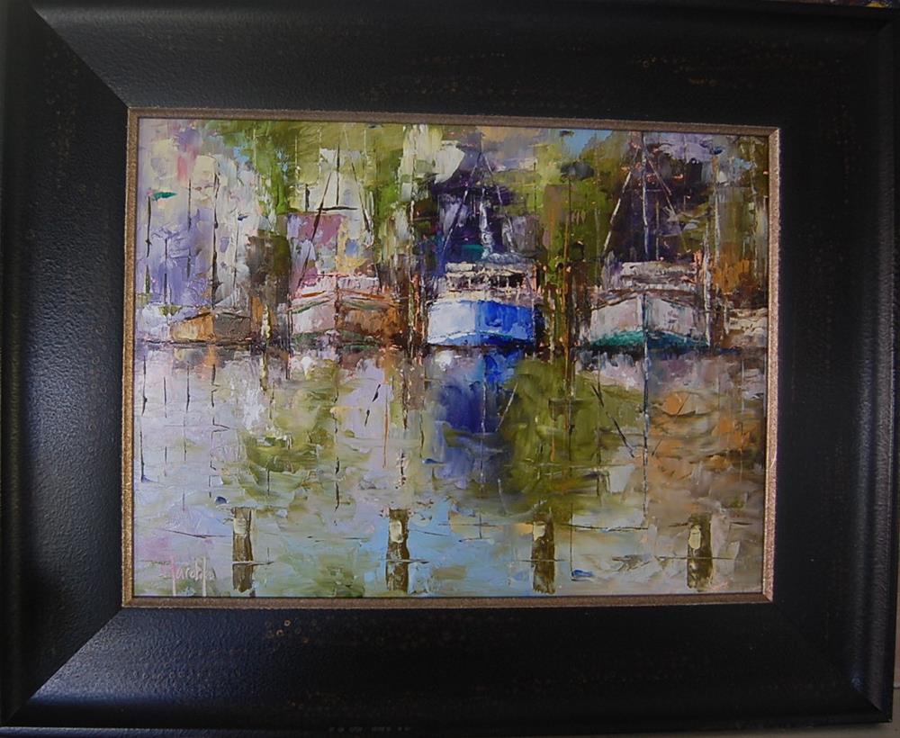 """Harbor Scene"" original fine art by Deborah Harold"