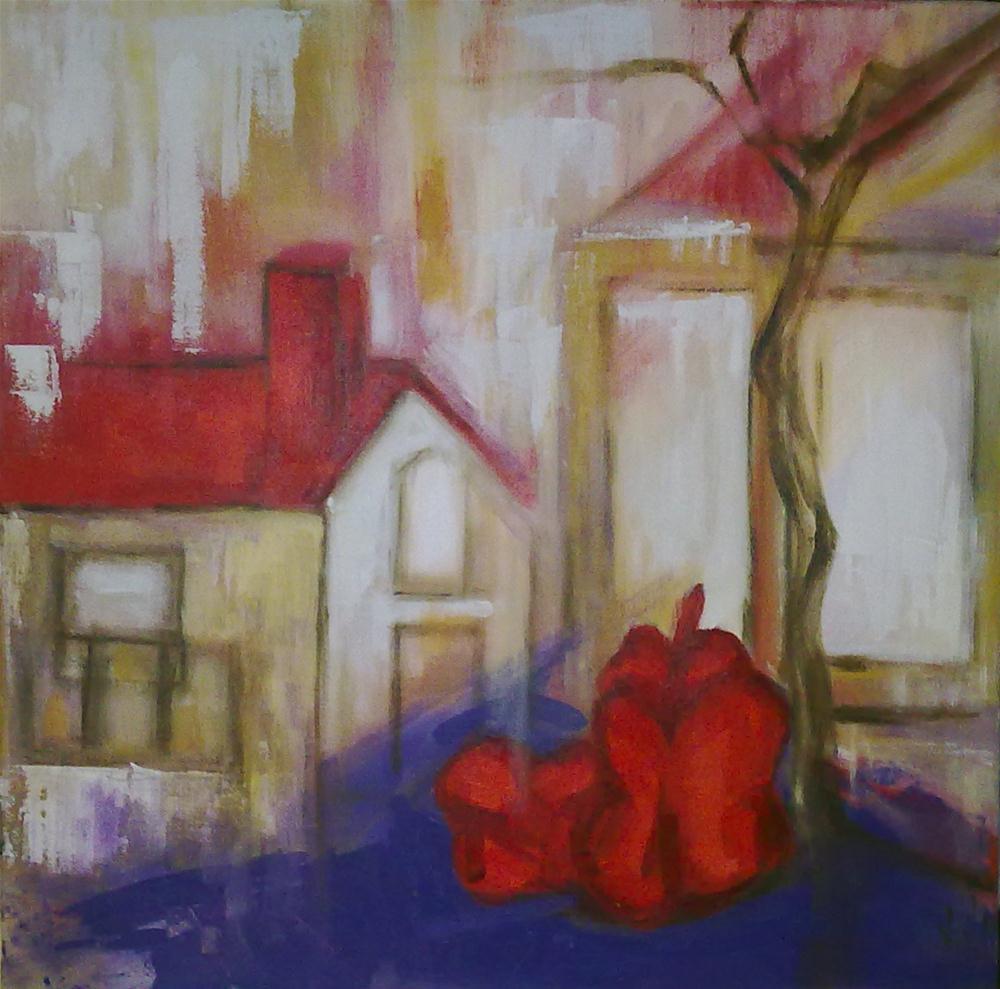 """Peppers in the window"" original fine art by Monica Pinotti"