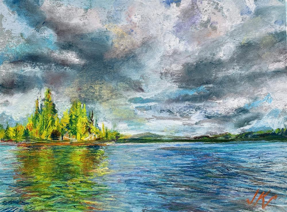 """""""Lake Abanakee, NY"""" original fine art by Jean Krueger"""