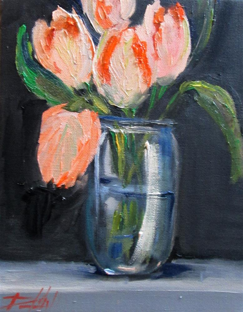 """Tulips in a Jar"" original fine art by Delilah Smith"