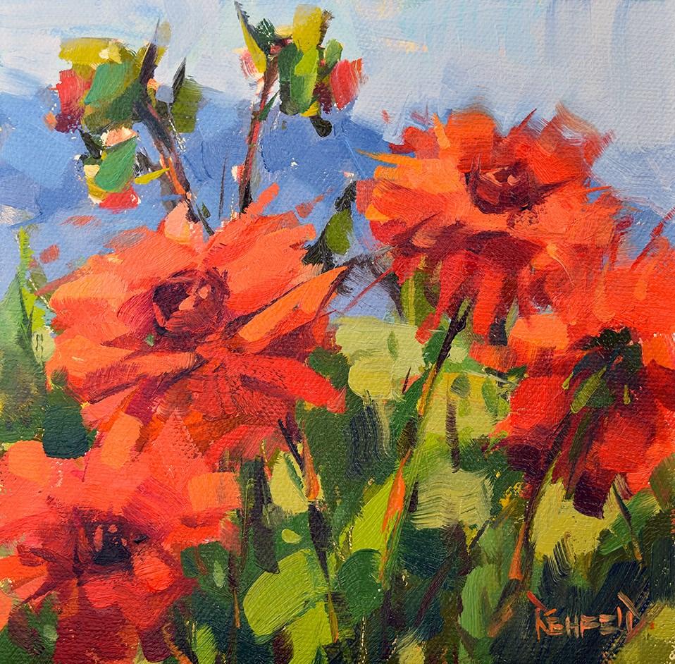"""Flowery Challenge"" original fine art by Cathleen Rehfeld"