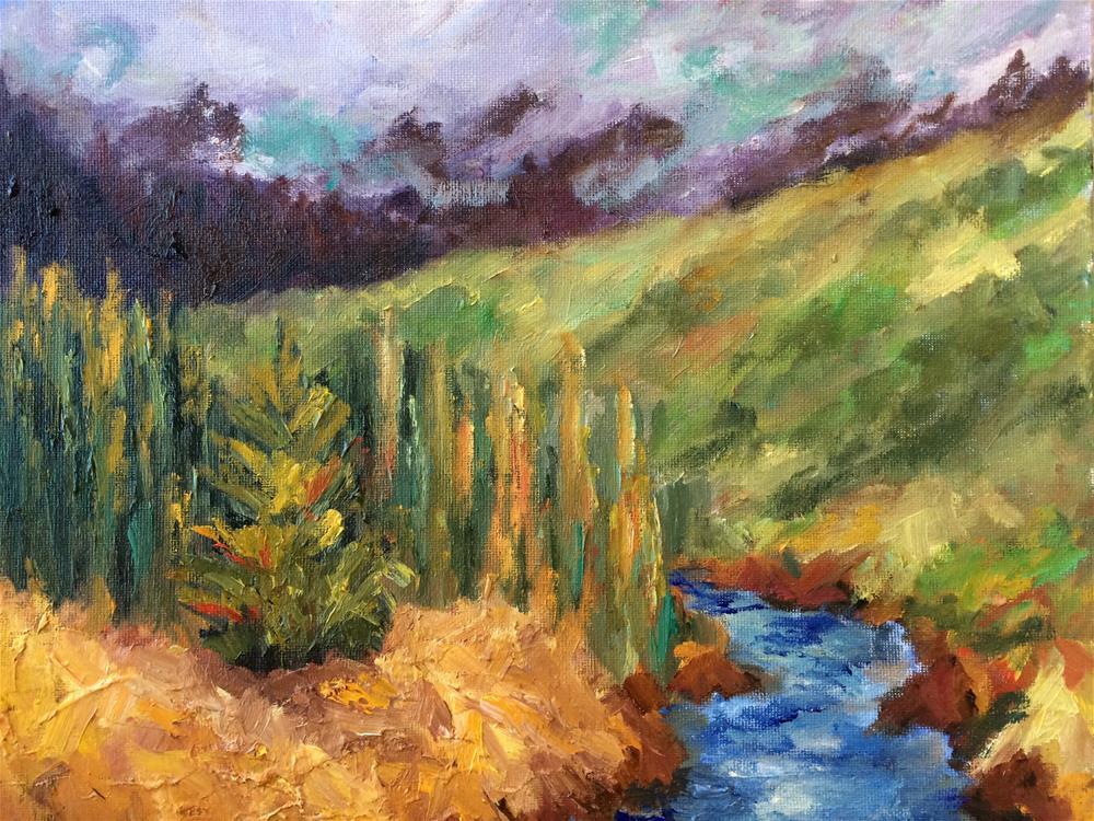 """""""River finds its way"""" original fine art by Ramya Sarveshwar"""