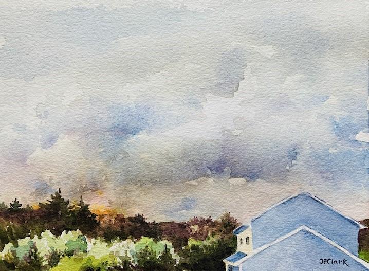 """Where There's Smoke..."" original fine art by Judith Freeman Clark"
