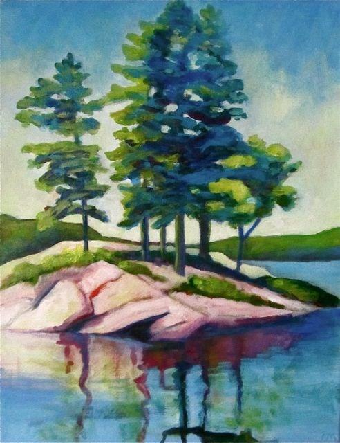 """Redstone Lake Pines"" original fine art by Patricia MacDonald"