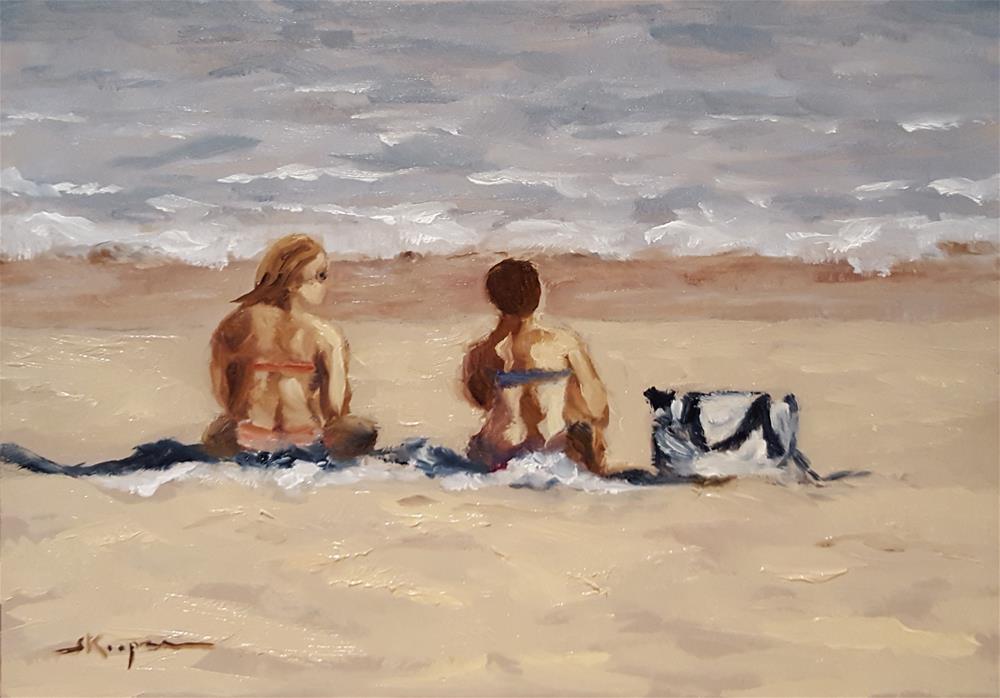 """""""Girl Talk"""" original fine art by Shelley Koopmann"""