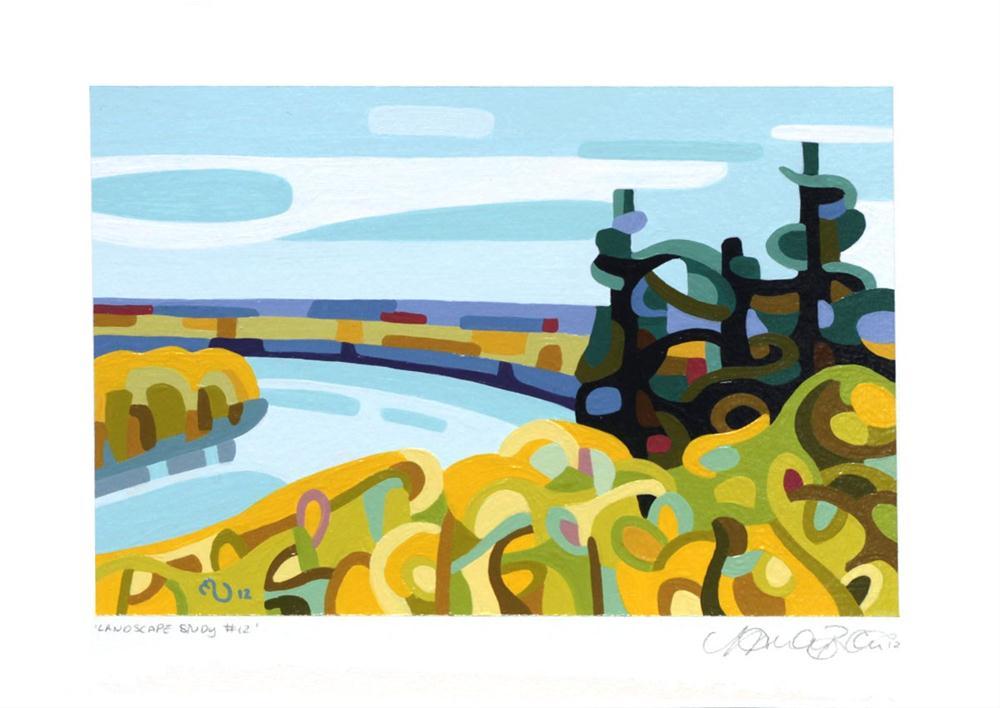 """Landscape Study #12"" original fine art by Mandy Budan"