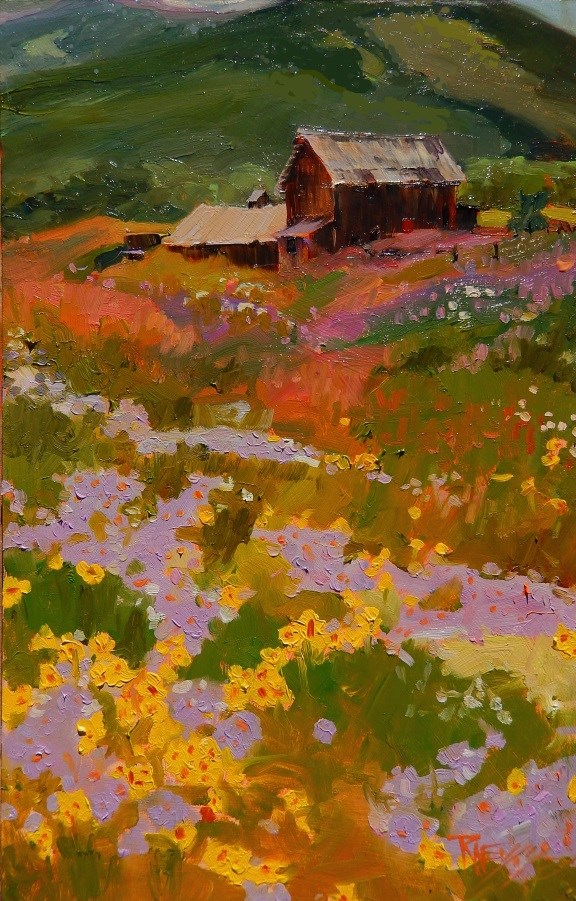 """""""Barns and Beauty  Crested Butte, plein air, landscape painting by Robin Weiss"""" original fine art by Robin Weiss"""