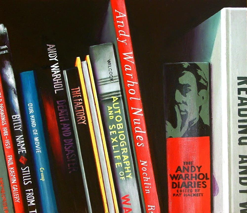 """Andy Warhol Books- Still Life Painting Of Books On Andy Warhol"" original fine art by Gerard Boersma"