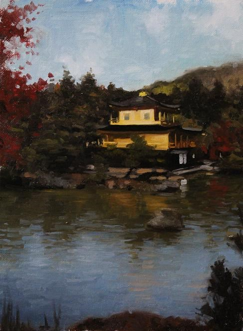 """Kinkaku-ji (Golden Pavilion)"" original fine art by Phil Couture"